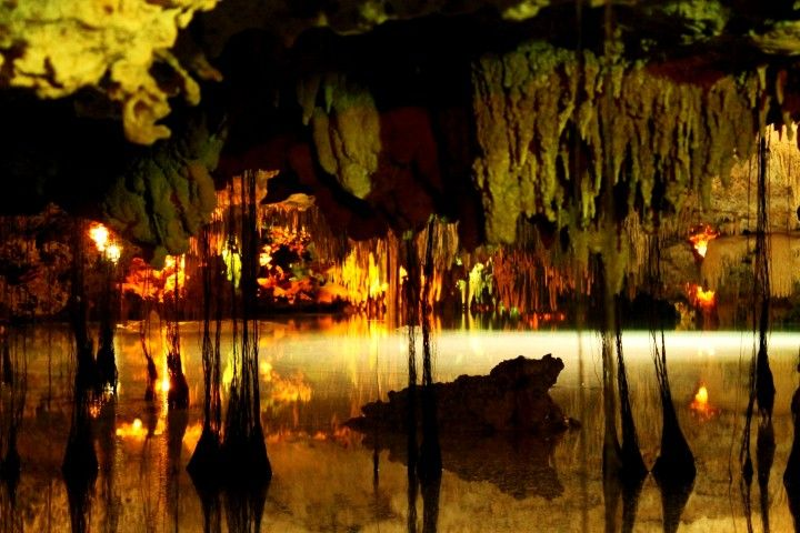 underground cenote at the riviera maya
