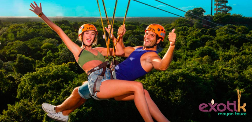 tirolina excursión en Riviera Maya