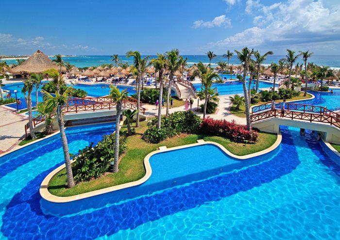 Los mejores hoteles en la riviera maya hotel bah a pr ncipe for Piscina bahia