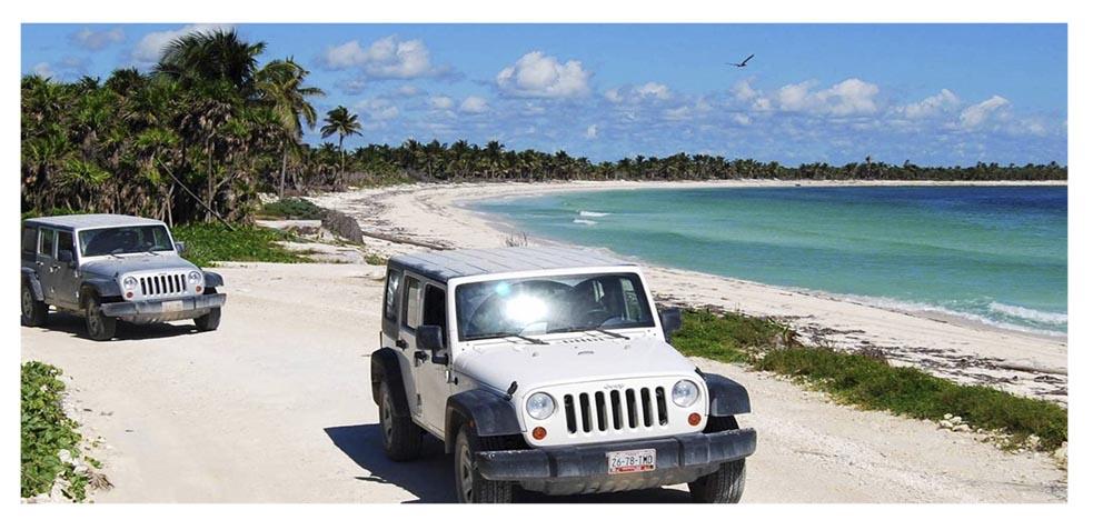 alquiler de coches en riviera maya para visitar las playas