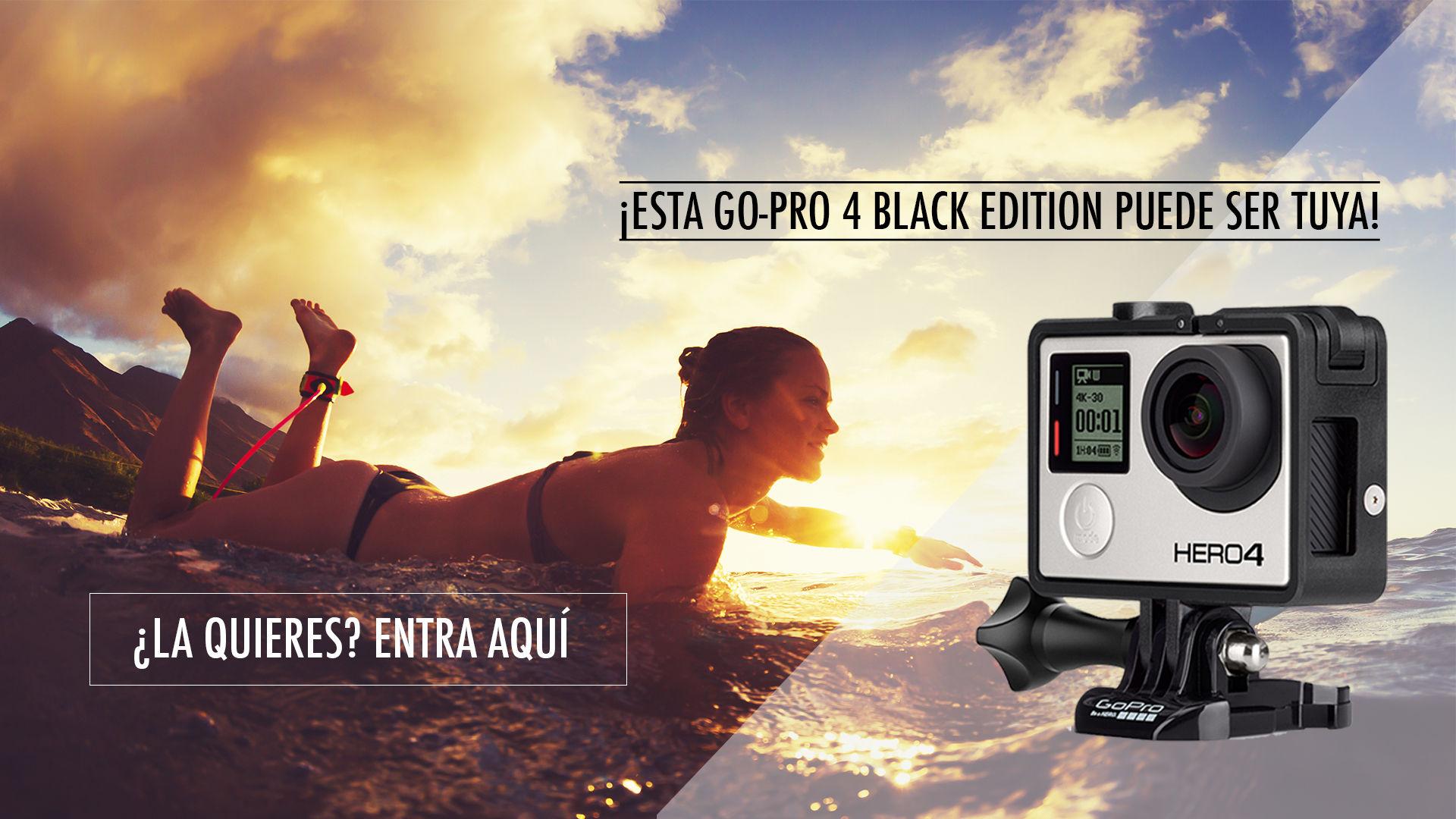 Promoción sorteo cámara fotográfica Go Pro Black Edition 4.