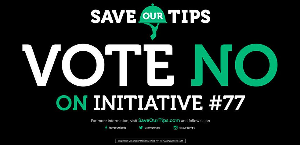 campaña ley de propinas Iniciativa 77