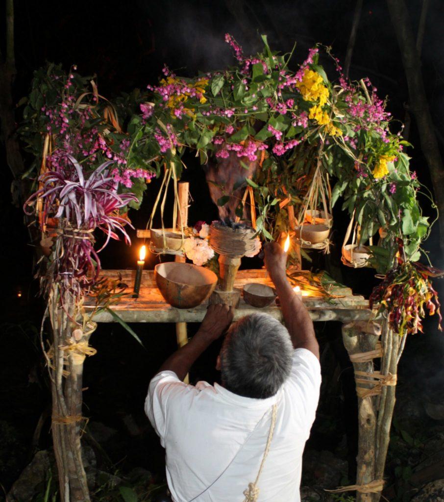 Ceremonnia del chamán Chaya