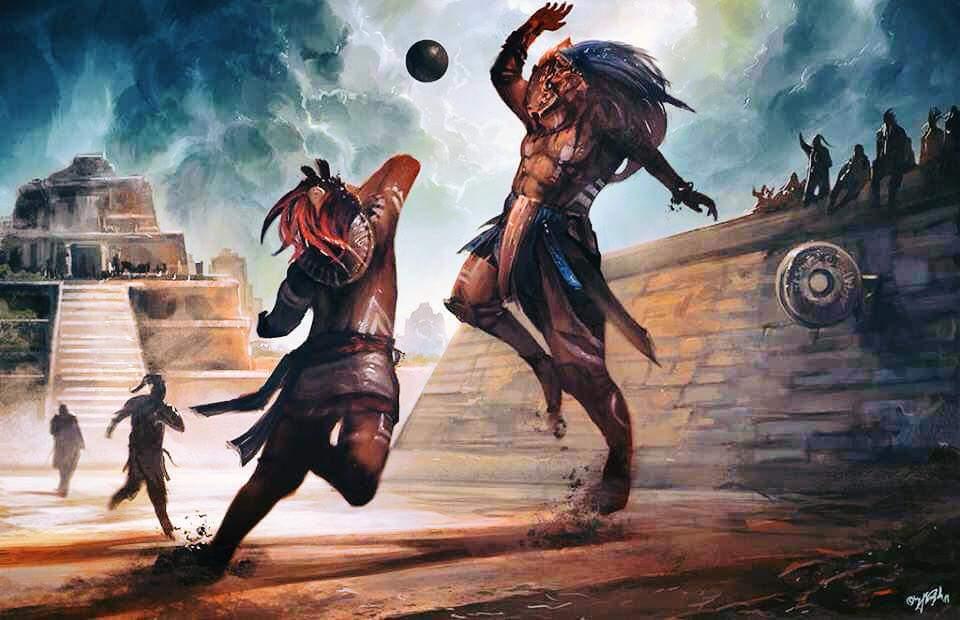 Los Mayas eran muy aficionados  al juego de la pelota