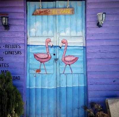 fachada de tienda en la isla de Holbox