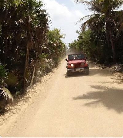 ruta en jeep a sian kaan
