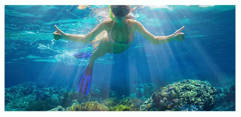 practicar snorkel en el arrecife gracia a la excursion de exotic mayan tours